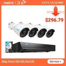 Reolink RLK8 410B4 4MP/5MP Sistema di Telecamere 8ch PoE NVR e 4 Telecamere IP PoE Pallottola Esterna HD Video di Sorveglianza kit Built in 2TB HDD