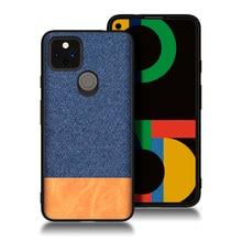 Coque arrière en tissu pu souple pour Google pixel 4a, étui antidérapant de couleur contrastée, pour modèles 5G 3 3A 3XL 4 4XL