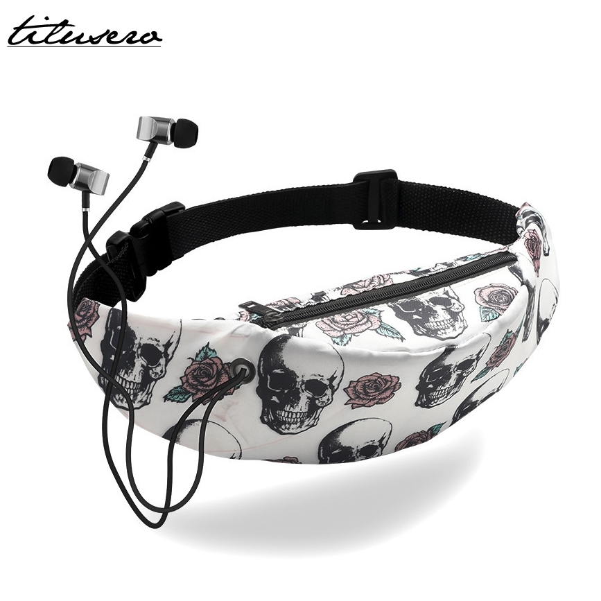 New 3D Colorful Print Women Waist Bags Mobile Phone Waist Pack For Women Belt Bag Waterproof Sport Travel Fanny Pack T012