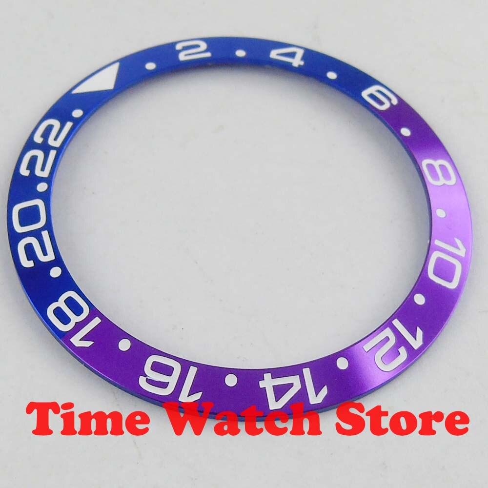 Luxo de Alta Gmt para 40mm Novo Qualidade Azul Violeta Alumínio Moldura Inserção Relógios B301 2020 38mm