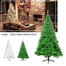 CZ 1.2/1.5/1.8/2.1M Multiple Specifications Ordinary Iron Stand Christmas Tree Green/White Dense Style For Decorations