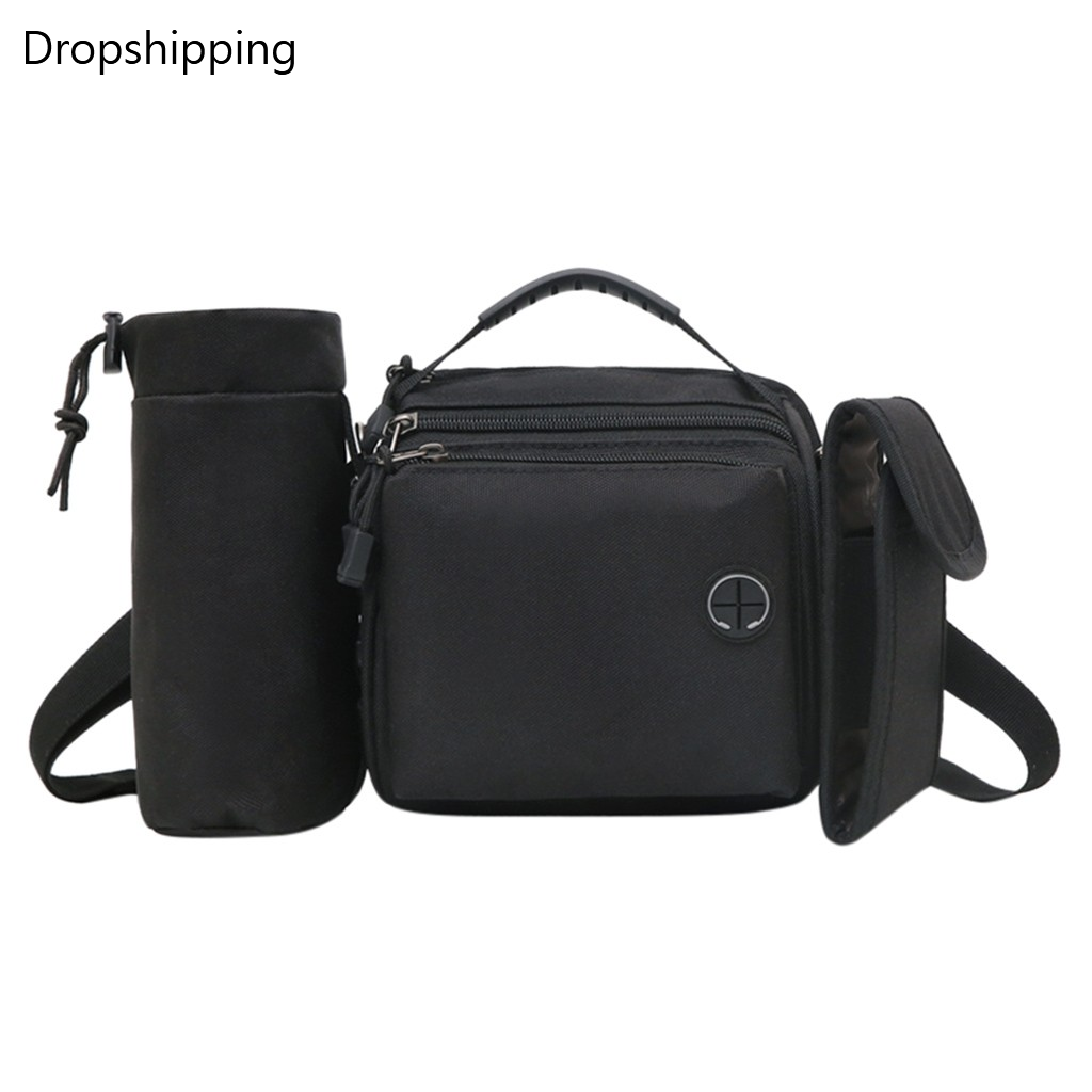 New Arrival  Men's Retro Multi-Function Outdoor Sports Canvas Bag Soild Color Shoulder Bag Pocket Clutch Bag Phone Pouch Bags #2
