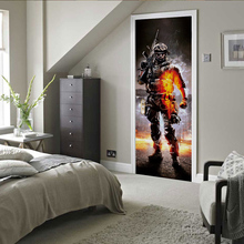 цена на 3D creative Call of Duty 2 door stickers wall stickers self-adhesive waterproof removable