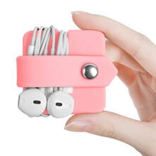 Winder Headphones Storage Data Cable Silicone Folding Finishing Multicolor White Black Pink Blue Household Car