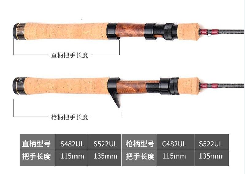 rod1.42m1.57m fuji ultraleve fiação hastes linha peso