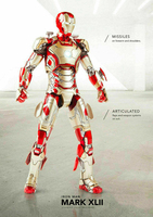 Iron Man MK42 Action Figure Set LED 6 Alloy Movable Doll In Stock 1/12 Scale Comicave Model for Fans Gifts