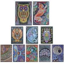 50 страниц, алмазная живопись, блокнот, сделай сам, животное, специальная форма, алмазная вышивка, вышивка крестом, А5, блокнот, дневник, книга для студентов