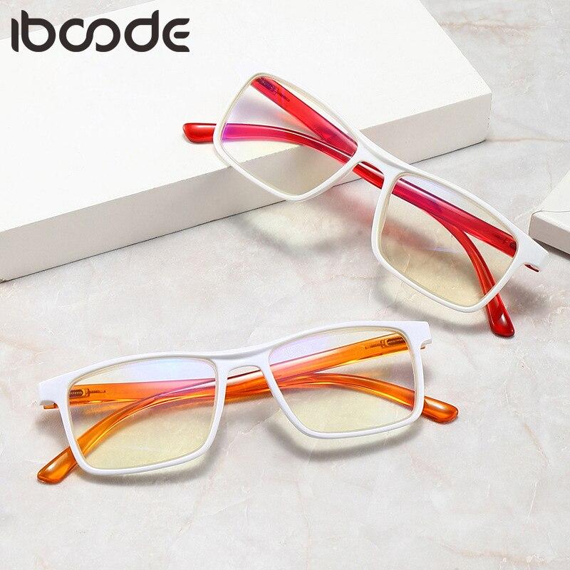 Iboode Для мужчин Для женщин Для мужчин, очки для чтения, увеличение пресбиопические очки оправа прямоугольной формы Spectaacle унисекс очки диоптр...