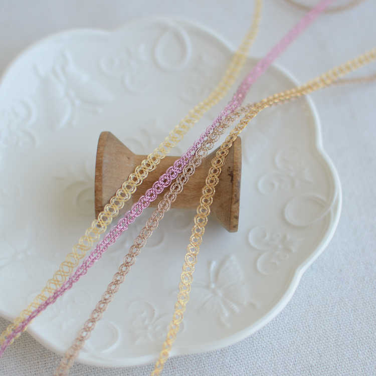 #196 Geborduurde nigeriaanse kant stoffen koord kant stof trim lace applique trim bruiloft decoratie