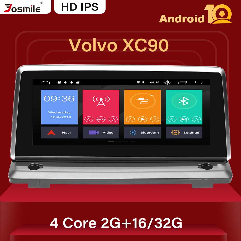 DSP Android 10 Car Radio For Volvo XC90 2007-2013 Multimedia Player GPS Navigation Stereo Satnav Audio 2 GB RAM IPS Rear camera