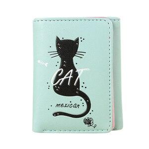 Women Simple Cat Short Wallet