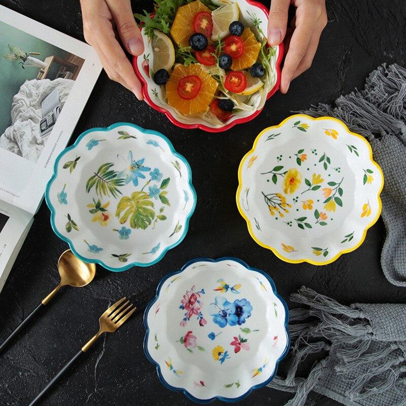 Купить японский стиль ручная роспись керамический милый фруктовый салатник