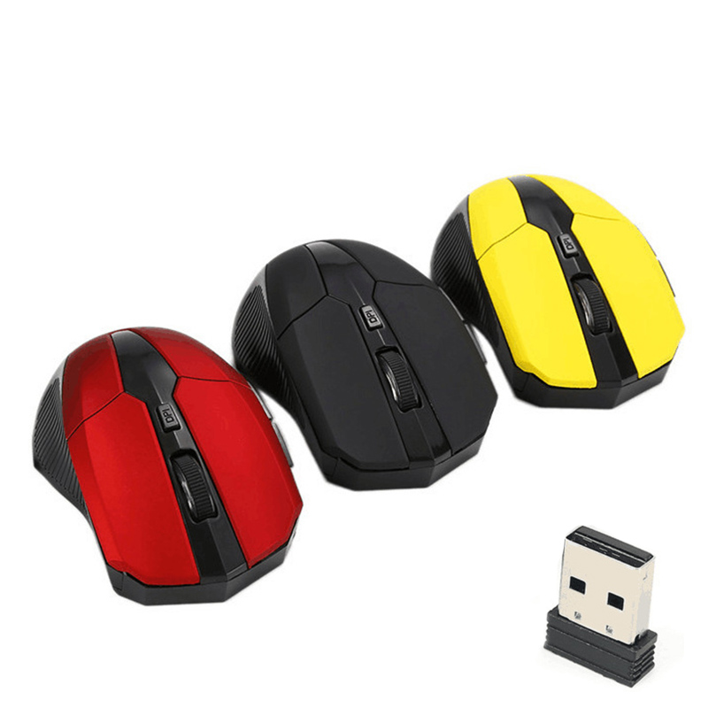2.4G USB Red Optical Wireless Mouse 3 Buttons For Computer Laptop Gaming Mice