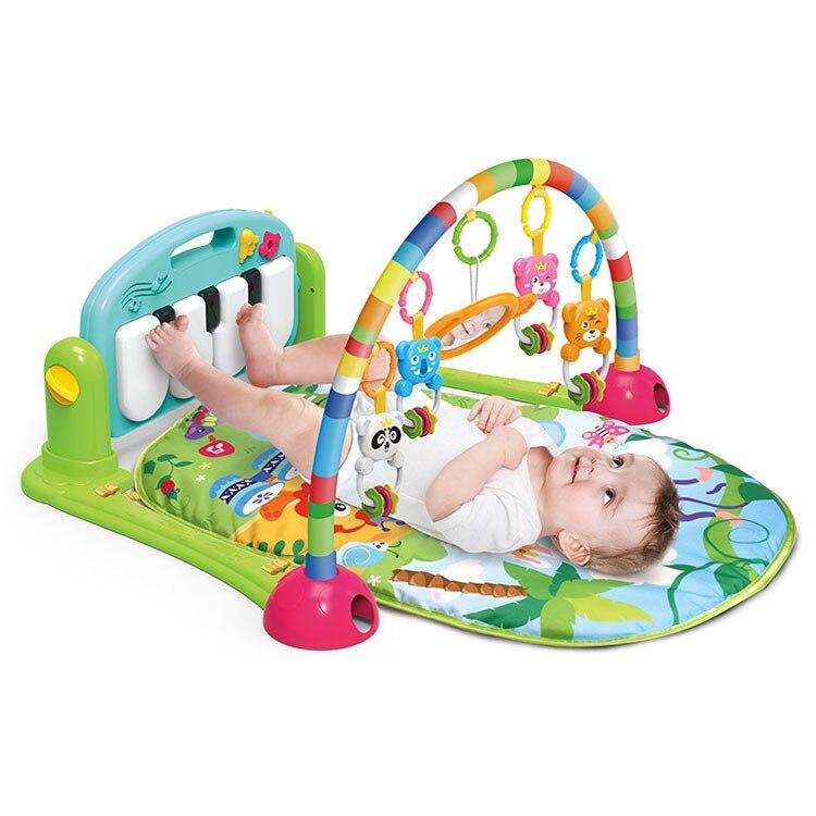 Bébé coup de pied et jouer Piano Gym tapis fabricant bébé multi-fonctionnel ramper Pad jeu couverture Amazon frontière offres spéciales jouet