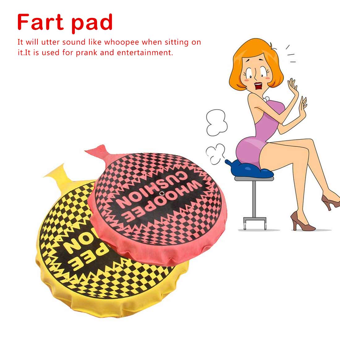 Baby Kids Fun Prank Toys Cushion Jokes Gags Pranks Maker Tricks Funny Toys For Child Fart Pad Pillow Perdushka For Fun