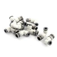 10Pcs 3/8 PT Male to 8mm OD Tube L Type Air Quick Release Connectors|Connectors|   -