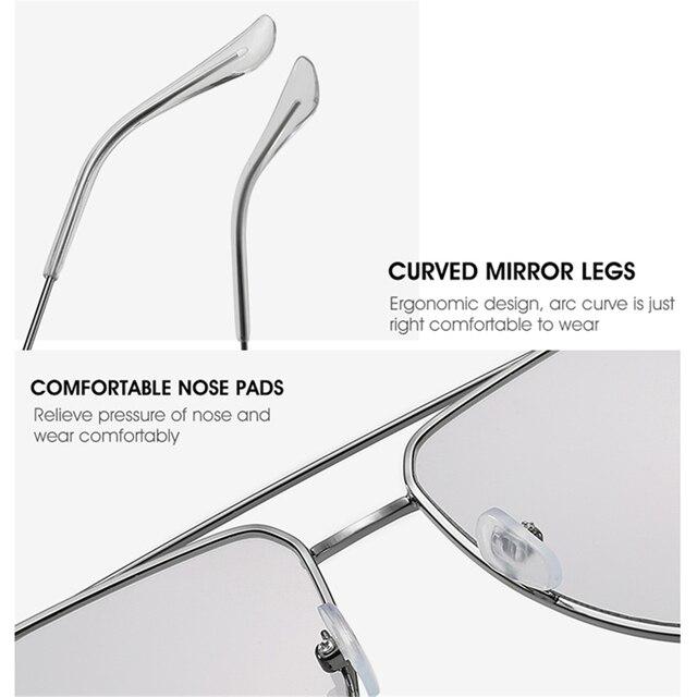 Купить классические солнцезащитные очки авиаторы yameize в металлической картинки цена