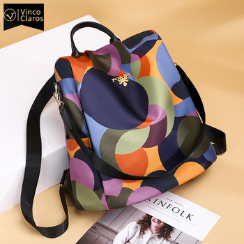 Fashion Anti-theft Backpack Women Oxford Shoulder Bag Large Capacity Female Travel Backpack Light School Bag for Teenage Girls 1