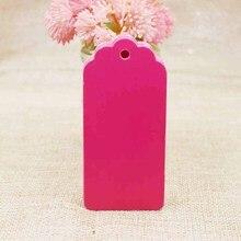 9,5*4,50 см 100 шт в партии ярко-розовая картонная бирка для багажа ювелирные изделия/Подарочная пустая бирка на заказ лого цену дополнительно
