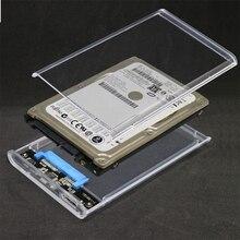 5 Гбит/с 2,5 дюймов прозрачный корпус HDD SATA 3,0 к USB 3,0 внешний жесткий диск SSD корпус коробка поддержка 2 ТБ UASP протокол
