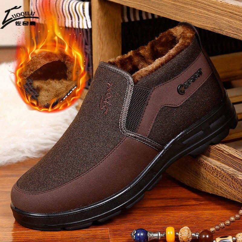 Men Shoes Winter Warm Ankle Boots Men Snow Winter Boots For Men Mens Winter Shoes Black Work Shoes Big Size 48 Botas Masculina