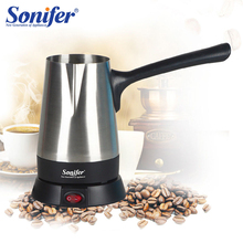 ماكينة القهوة الفولاذ المقاوم للصدأ تركيا صانع القهوة 800 واط إبريق قهوة كهربائية غلاية قهوة الحليب المغلي للهدايا 220 فولت Sonifer
