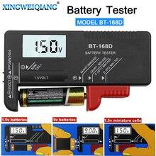 Digitale Batteria di Capacità Strumento di Diagnostica Tester Della Batteria Delle Cellule del Tasto Display LCD di Controllo AAA AA Tester Universale