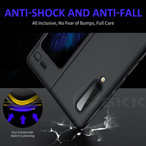 Image 5 - GKK Original For Samsung Galaxy Fold Case Anti knock Full Protection Ultra thin Flip Matte Hard PC Cover For Samsung Fold Coque