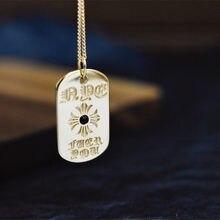 Bijoux en or véritable jaune 18K pour femmes, chaîne en forme de cœur de corbeau, Style de styliste, Punk, rue, Hip Hop, collier avec pendentif en Agate, AU750