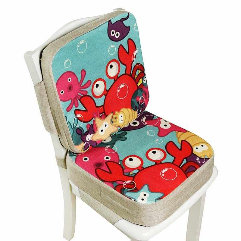 39*39cm yükseltici koltuk yastık çocuk artan sandalye minderi Anti-Skid su geçirmez bebek yemek ayarlanabilir koltuk sandalye minderi
