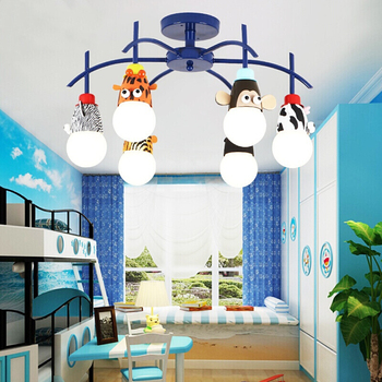 TRAZOS Animal LED zoo Ceiling Lights For Living Room Wooden Modern Ceiling Lamp For Living Room Kids Bedroom Lighting Fixtures 2019 trazos pendant lights led modern for dinning room wooden metal suspension hanging ceiling lamp home lighting for kitchen