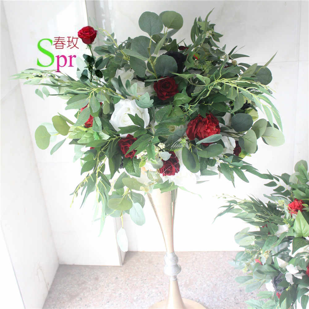 SPR Бесплатная доставка 10 шт./лот Цветочные шары для свадебного стола центральный