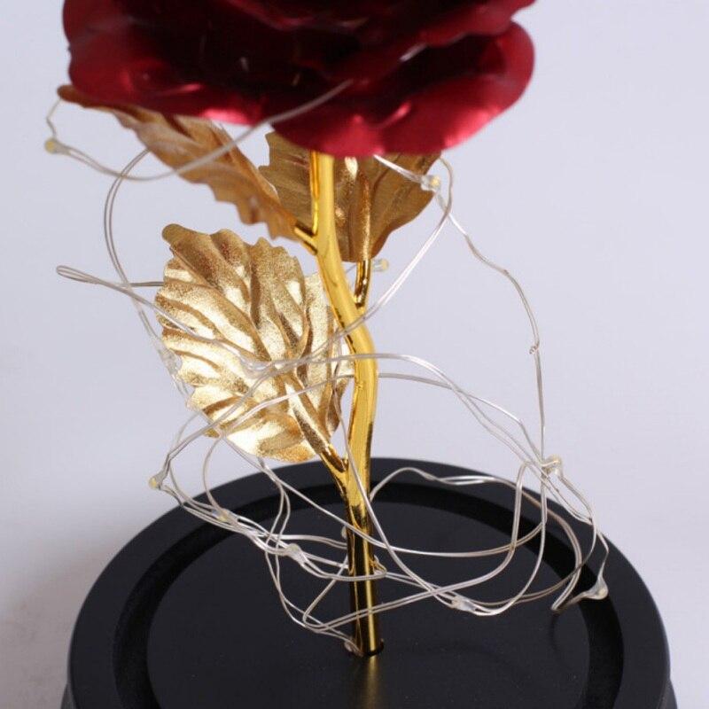 Красота и чудовище вечный цветок розы в фляге свадебное украшение Искусственные цветы в стеклянной крышке на День Святого Валентина подарок