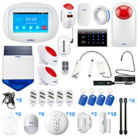 KERUI K52 GSM WiFi Wireless Connection Signal Amplification Sensor Home Security Alarm System Wireless Beam Sensor Alarm System
