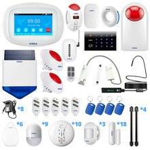 KERUI sistema de alarma para el hogar Sensor de amplificación de señal WiFi K52 GSM, conexión inalámbrica, sistema de alarma para el hogar