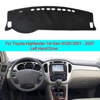 2 레이어 대시 보드 커버 Sun Shade For Toyota Highlander 1 세대 XU20 2001 2002 2003 2004 2005 2006 2007 대시 매트 카펫 케이프