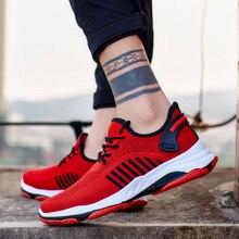 2019 Men Vulcanize Shoes Casual Comfortable Sneakers Wear-resisting Non-slip Male Mesh Tenis Masculino Plus Size 39-45