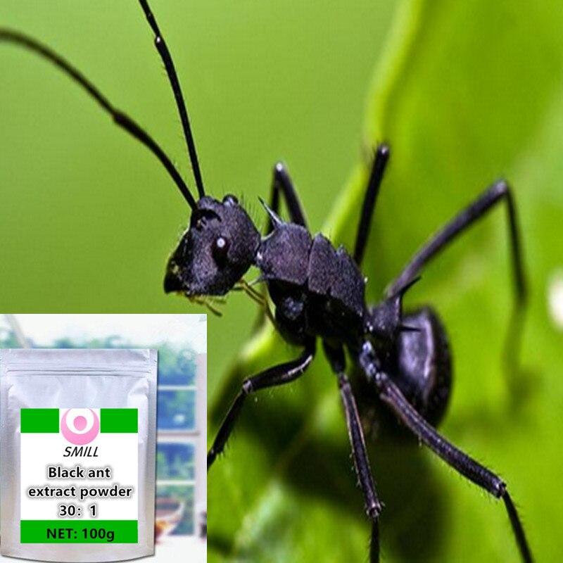 100 1000g de alta qualidade sem adicoes formiga preta extrato em po hei ma yi frete