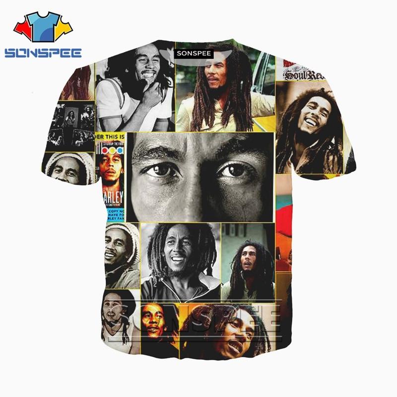 Anime 3d Print Funny T Shirt Men Bob Marley Women Reggae Fashion T-shirt Kids Harajuku 2019 Tee Funny Shirts Homme Tshirt A27