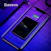 Baseus 15 Вт Qi Беспроводное зарядное устройство для iPhone X Xs Max ультра тонкий быстрый беспроводной зарядный коврик для samsung S10 S9 Xiaomi Mi 9