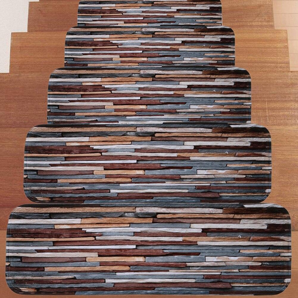Home Garden Stair Treads 5Pcs Stair Carpet Treads Stair Tread | Grey Carpet Treads For Stairs | Wool Carpet | Indoor Outdoor | Skid Resistant | Custom Stair | Rugs