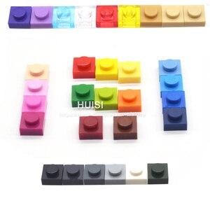 Image 4 - Compatible With LEGOE Bircks Parts Plastic Building Blocks Plate 1x1 1*1 Creative DIY Models Education Learning Toys 600 Pieces