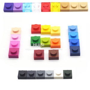 Image 4 - Legoeと互換性bircks部品プラスチックビルディングブロックプレート1 × 1 1*1クリエイティブdiyモデル教育学習おもちゃ600個