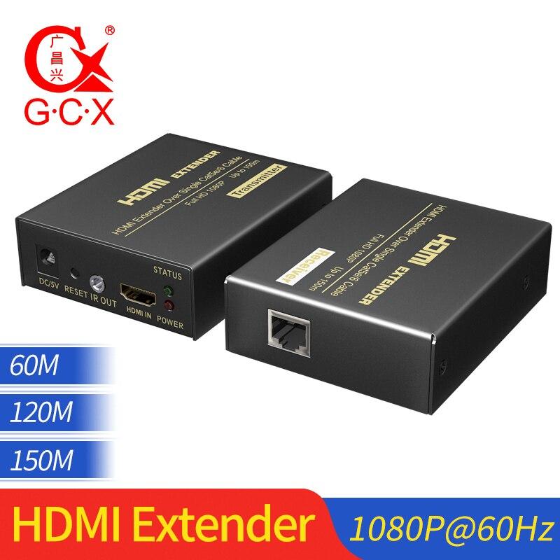 Extender HDMI sur Cat5e Cat 6 IP signal TCP HDMI vers Ethernet convertisseur Lan 1080p HDMI émetteur récepteur TX RX 60M 120M 150 M