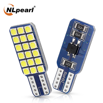 10pcs signal lamp 3030 t10 led car bulb w5w 194 168 led t10 led lamps for cars white 5w5 clearance backup reverse light 12v Nlpearl 2x Signal Lamp T10 W5W Led Bulbs 12V White 18SMD 3030 Chip W5W 194 168 Car Interior Reading Dome Lamp Clearance Lights