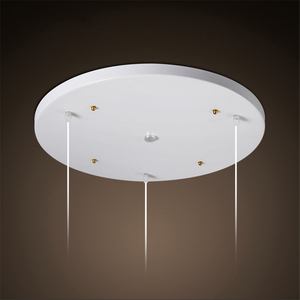 Ceiling Plate Black/White Iron