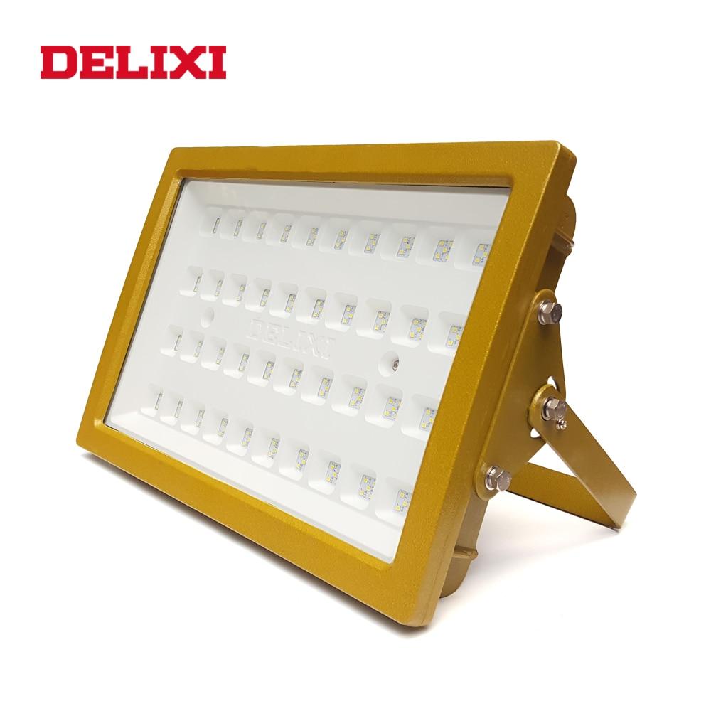 DELIXI LED Explosion Proof Light AC 220V 240W 300W Lp66 WF1 Factory Warehouse Light Waterproof Floodlight Explosion Proof Lamp
