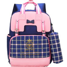 backpack school kids bag British College style school bags f