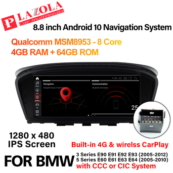Android 10 Car Multimedia GPS Player For BMW 3 Series E90 E91 E92 E93 5 Series E60 E61 E63 E64 CCC CIC CarPlay AutoRadio Navi image
