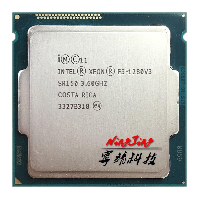 Процессор Intel Xeon, четырехъядерный процессор E3 1280v3 E3 1280 v3 3,6 ГГц с восьмиядерным процессором L2 = 1 м L3 = 8 м 82 Вт LGA 1150